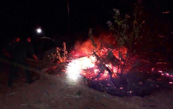 Cháy rừng bạch đàn tại Bình Định cũng do đốt rác ảnh 1