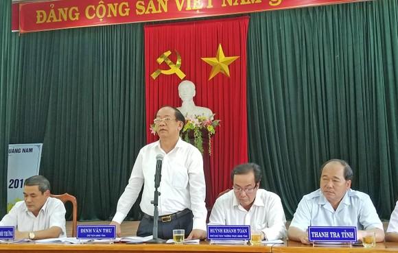 Chủ tịch UBND tỉnh Quảng Nam đối thoại với dân về đất dự án  ảnh 1