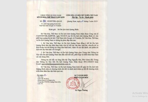 Quảng Bình đại diện miền Trung ký kết quảng bá du lịch với Google ảnh 1