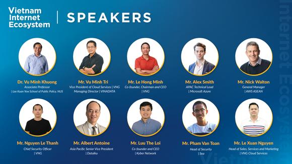 Các diễn giả tại Vietnam Internet Ecosystem
