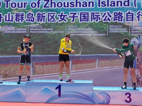 Nguyễn Thị Thu Mai giành áo vàng giải xe đạp Trung Quốc đẳng cấp thế giới 2.2 ảnh 1
