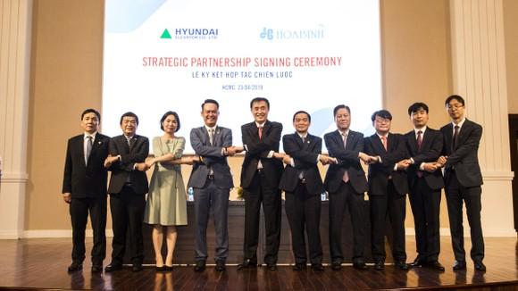Tập đoàn Xây dựng Hòa Bình ký kết thỏa thuận phát hành riêng lẻ và hợp tác với Hyundai Elevator  ảnh 1