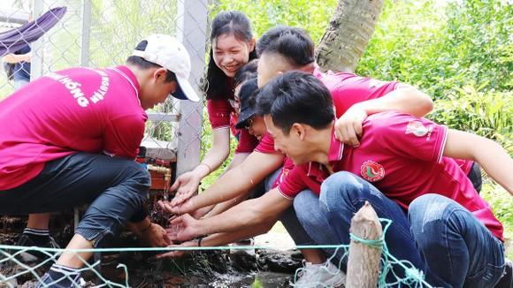 Niềm vui của thanh niên Sawaco với công trình  phục vụ người dân