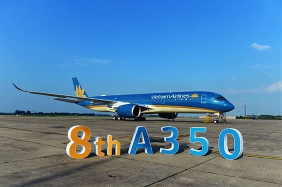 Vietnam Airlines has received the eighth Airbus A350 aircraft(Source: hanoimoi)