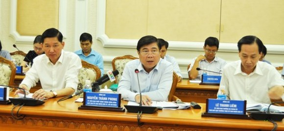 At the working session reviewing the city's performance in the period on September 5 (Photo: Sggp)