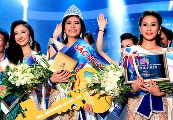 Dang Thu Thao of the Mekong Delta city of Can Tho has been crowned the 2014 Miss Vietnam Ocean.
