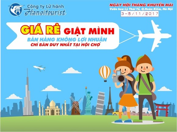 Special offers are being given by airlines and tour operators to visitors to a tourism promotion festival which is underway in Hanoi on November 3-5 to boost tourism until the year end (Photo: hanoitourist.vn)