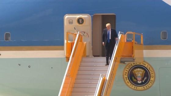 US President Donald Trump arrives in Da Nang