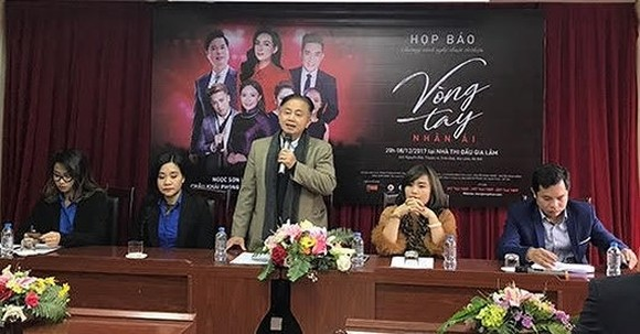 At the press conference of the charity concert