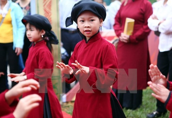 Xoan singing has been added to the Representative List of the Intangible Cultural Heritage of Humanity. (Source:VNA)