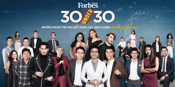 "Forbes Vietnam magazine announced the ""30 Under 30"" list (Photo:  forbesvietnam.com.vn)"
