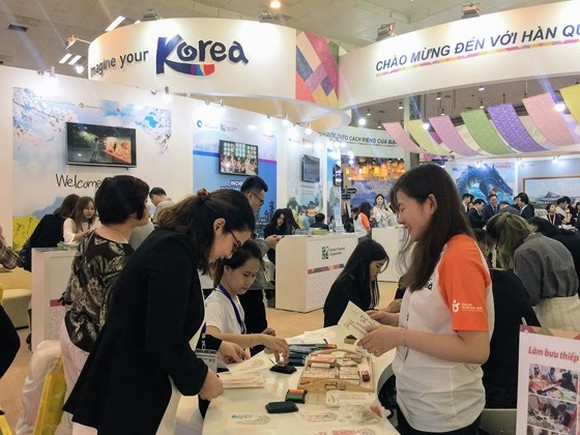 Vietnam International Travel Mart 2018 attracts 670 local and international travel businesses. (Photo: Sggp)