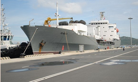 Tanker Pechenga arrives in Cam Ranh International Port (Source: soha.vn)