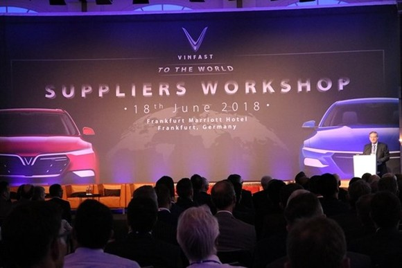 VinFast successfully organised a workshop in Frankfurt with the participation of 300 prestigious suppliers from around the world. (Photo courtesy of Vingroup)