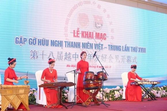 Secretary of the Secretariat of the Central Committee of the Communist Youth League of China (CYLC) Fu Zhenbang is in Vietnam to attend the 18th Vietnam-China youth friendship meeting that officially kicked off in Hanoi on August 14. (Source: doanthanhnie