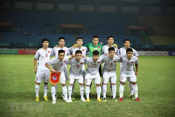 The Vietnamese squad faced Syria in the quarterfinal of ASIAD 2018 on August 27 (Photo: VNA)