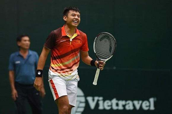 Top Vietnamese player Ly Hoang Nam gets a wildcard for the men's singles and doubles events at ATP Challenger Tour, Vietnam Tennis Open Da Nang City 2019. (Photo courtesy of the Vietnam Tennis Federation)