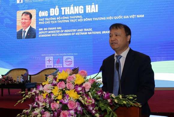 Deputy Minister of Industry and Trade Do Thang Hai speaks at the forum in Hanoi on April 17 (Photo: VNA)
