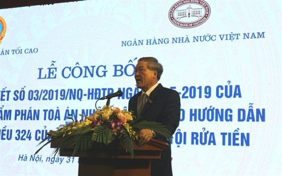 Nguyen Hoa Binh, Secretary of the Party Central Committee and Chief Justice of the Vietnam Supreme People's Court, speaks about the new resolution. (Source:cafe.vn )