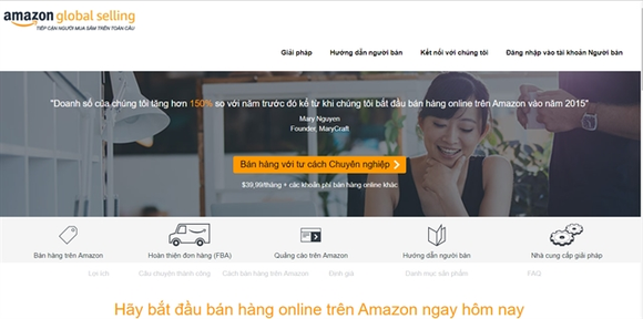 E-commerce platforms such as Amazon are effective channels to help Vietnamese SMEs export their goods. (Photo: VNA)