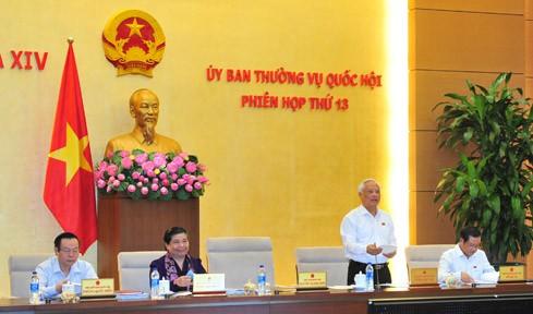 Phó chủ tịch Quốc hội Uông Chu Lưu điều hành nội dung họp về Luật Lý lịch tư pháp