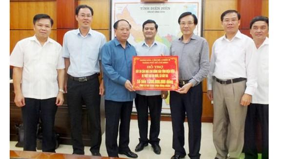 """TPHCM  """"nhường cơm sẻ áo"""" giúp Điện Biên khắc phục hậu quả mưa lũ ảnh 1"""