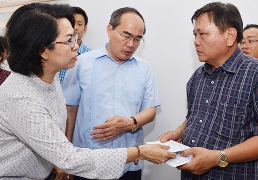 HCMC Party Chief Nhan directs to review firefighting task in condominium ảnh 4