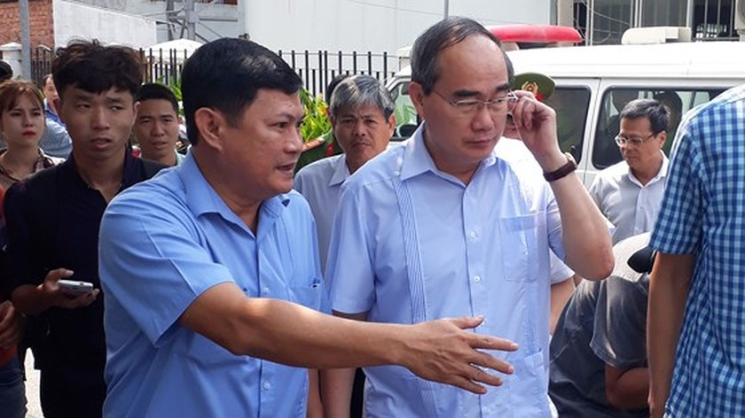 HCMC Party Chief Nhan directs to review firefighting task in condominium ảnh 2