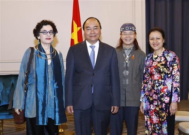 PM meets Vietnamese delegation to UN, Vietnamese businesses ảnh 1