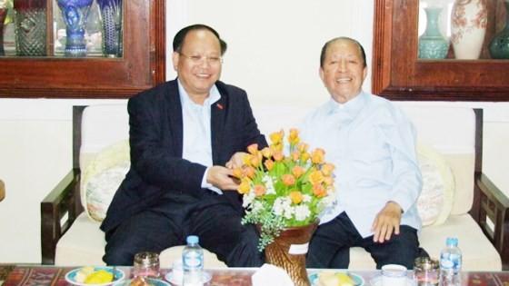 City delegation visits former Lao Prime Minister  ảnh 1