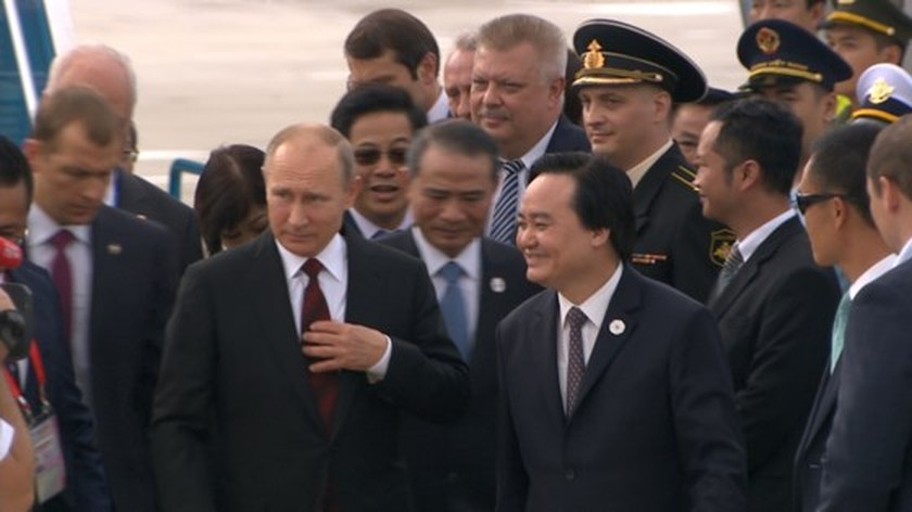 Russian President V. Putin arrives in Da Nang ảnh 5
