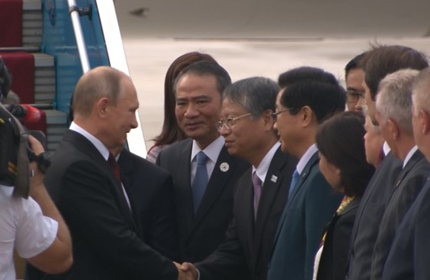 Russian President V. Putin arrives in Da Nang ảnh 1