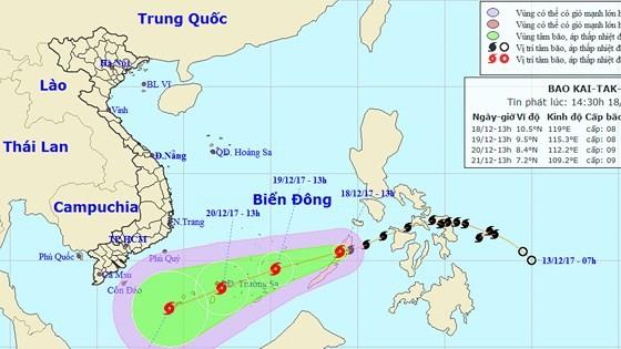 Typhoon Kai-tak enters East Sea  ảnh 1