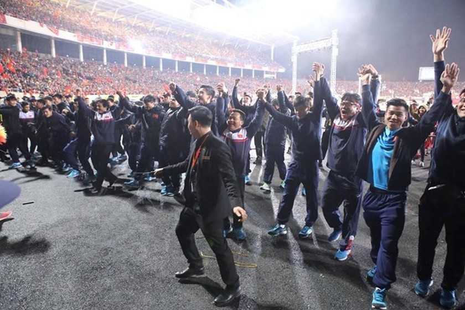 U23 football team honoured at grand ceremony ảnh 2
