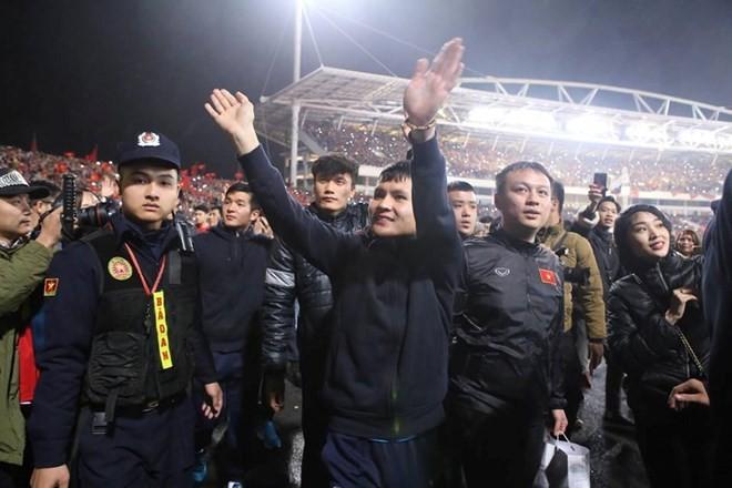 U23 football team honoured at grand ceremony ảnh 4