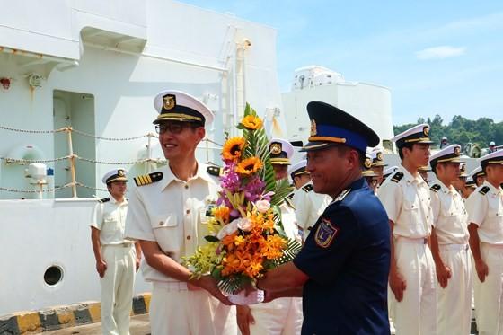 Tàu Bảo vệ bờ biển Nhật Bản cập cảng Tiên Sa, thăm chính thức Đà Nẵng ảnh 2