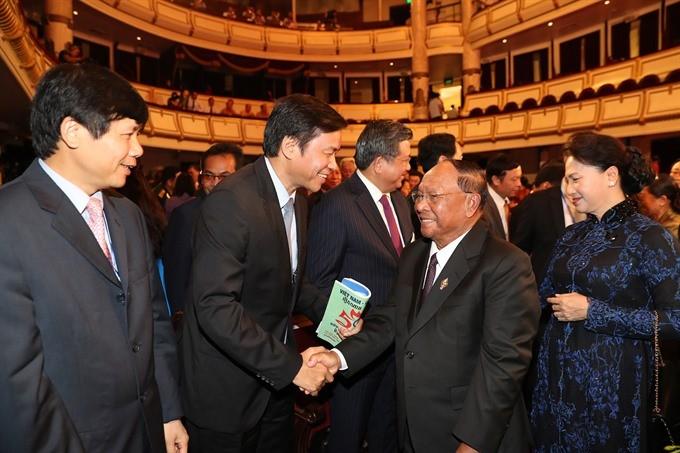 Grand ceremony marks 50 years of Vietnam- Cambodia diplomatic ties ảnh 1