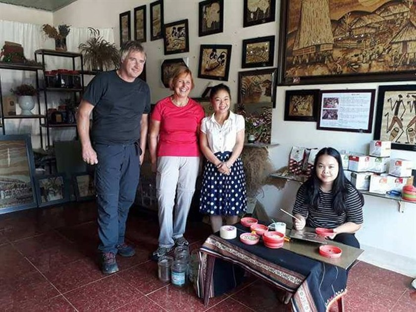 Rice paintings in Kon Tum highlight Central Highlands ảnh 4