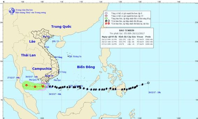 Typhoon Tembin weakens, forecast to trigger heavy rainfall ảnh 2