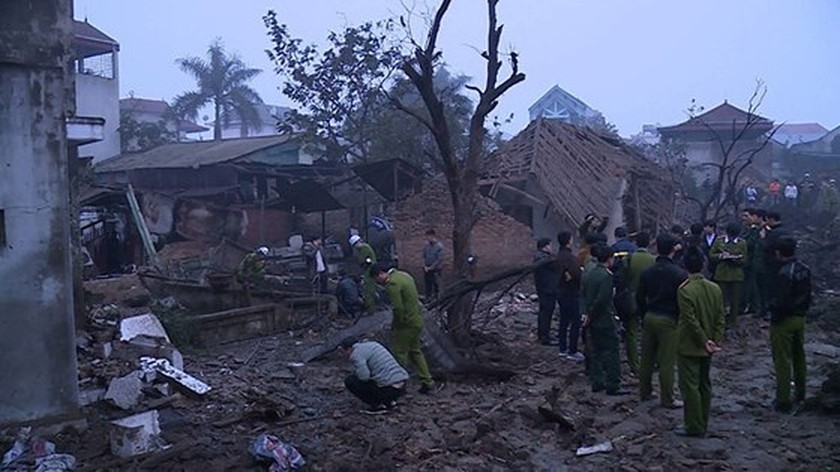 Nine causalities reported after big explosion in Bac Ninh province ảnh 2