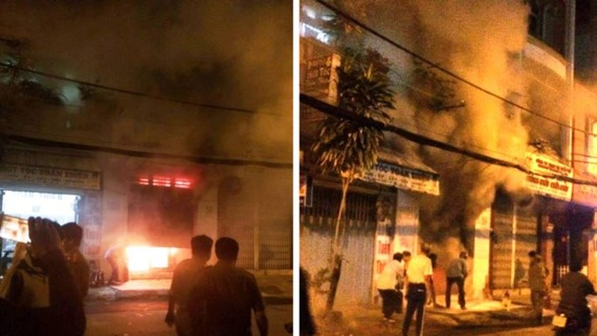Fire destroys store in district 3, HCMC ảnh 1