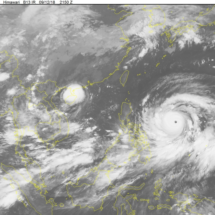Super typhoon Mangkhut close to East Sea   ảnh 1