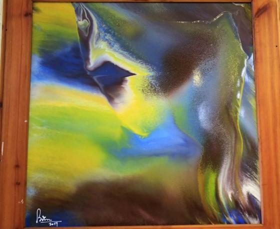 """Triển lãm """"Linh hồn màu sắc"""" qua tranh vẽ bằng ngón tay ảnh 4"""