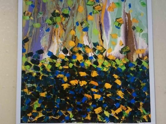 """Triển lãm """"Linh hồn màu sắc"""" qua tranh vẽ bằng ngón tay ảnh 6"""