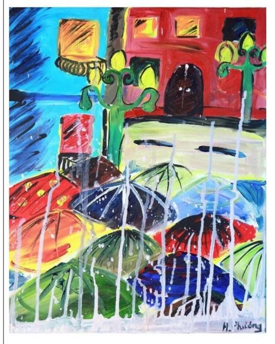 Bé 10 tuổi triển lãm tranh cá nhân tại Bảo tàng Mỹ thuật Việt Nam ảnh 1