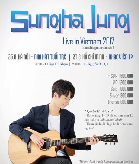 Korean guitarist Sungha Jung to perform in Vietnam