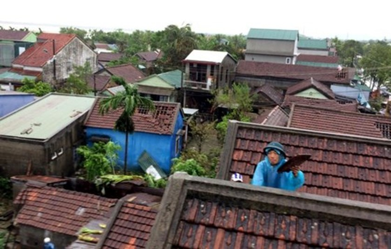 Typhoon Doksuri makes landfall in central provinces  ảnh 2