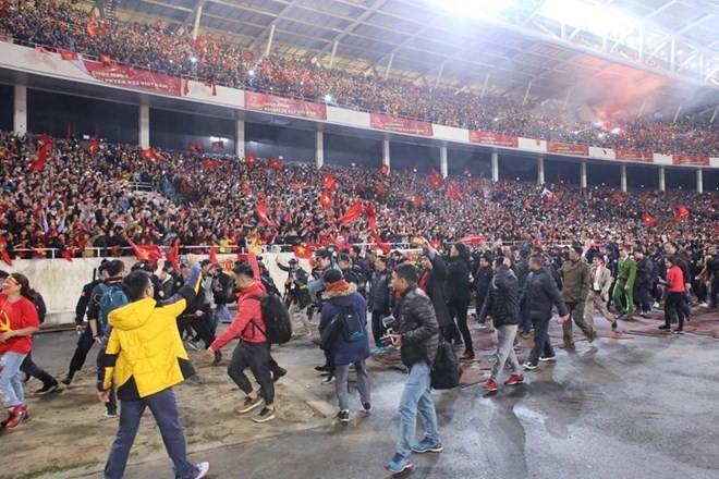 U23 football team honoured at grand ceremony ảnh 1