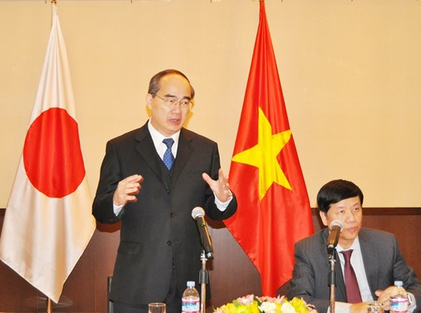 City leader meets overseas Vietnamese in Japan ảnh 1