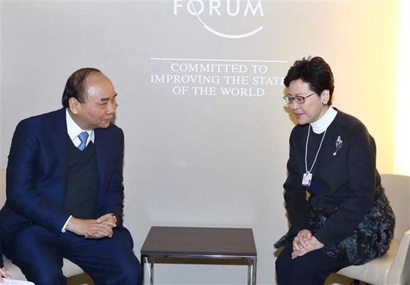 Prime Minister meets with foreign leaders in Davos ảnh 1